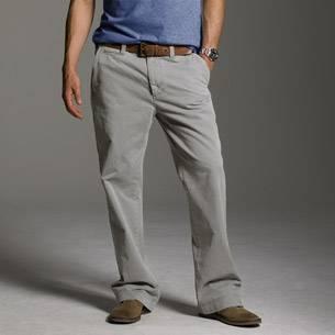 Mens Khaki Bootcut Pants