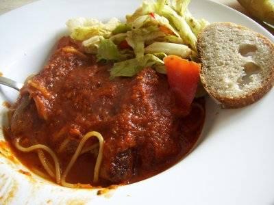 spaghetti & sausage