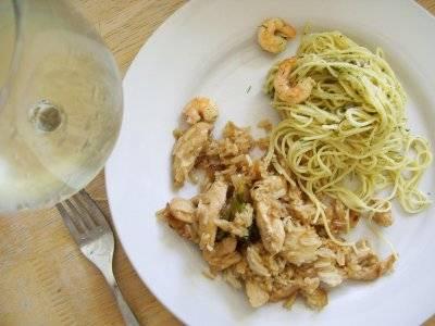 chicken & spaghetti