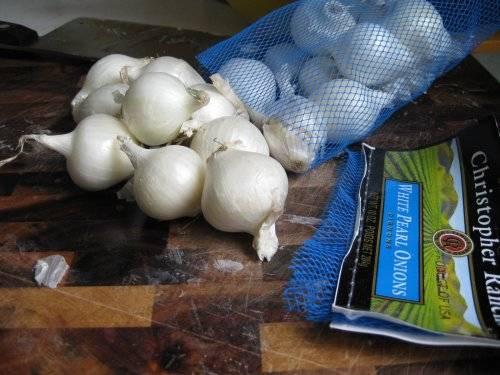 raw pearl onions
