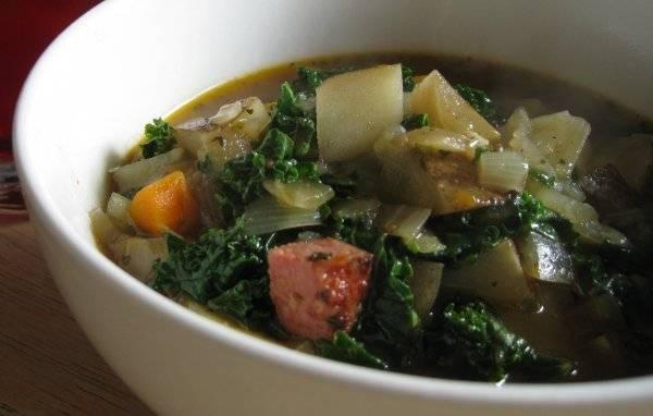 kielbasa stew with kale
