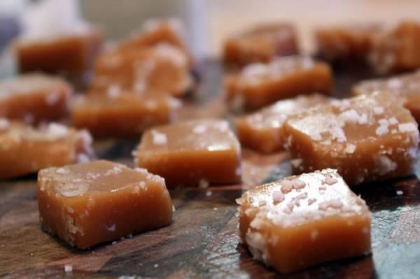homemade sea salt caramels