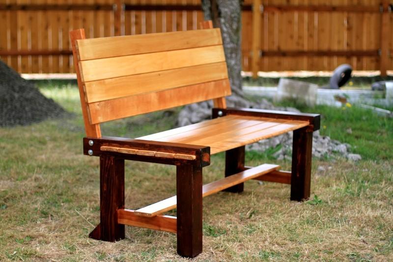 make cedar garden bench