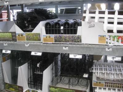 Emsco Victorian Fleur de Lis Garden Fence Home Depot