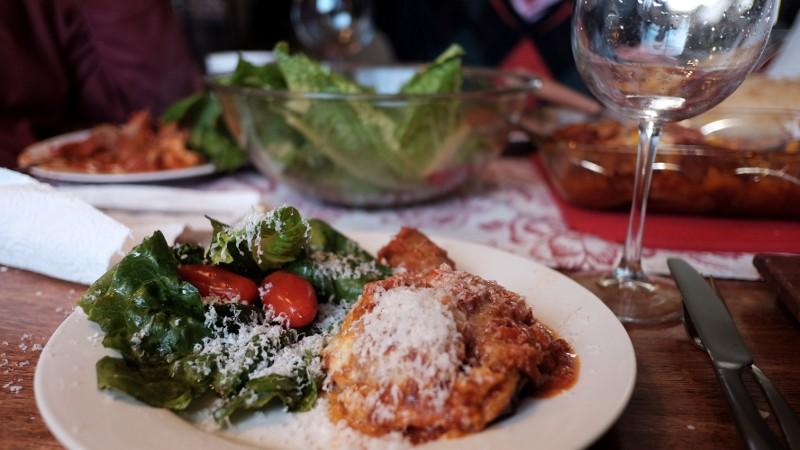 salad & eggplant casserole