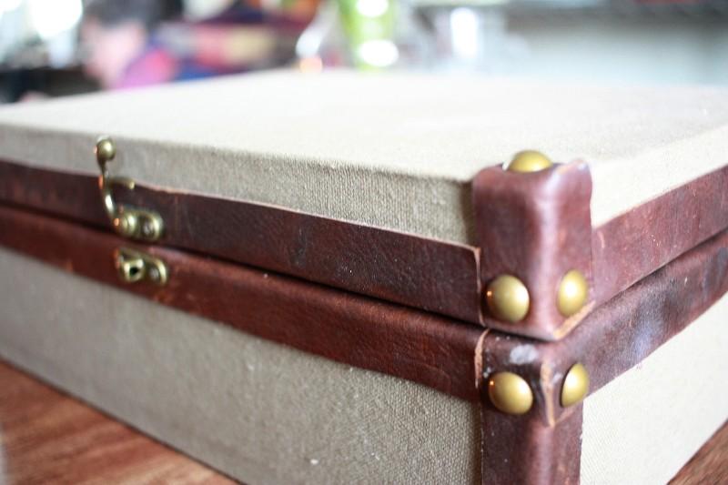 canvas make-up box