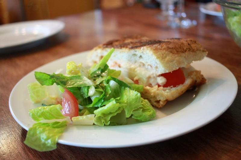 cheese & tomato panini