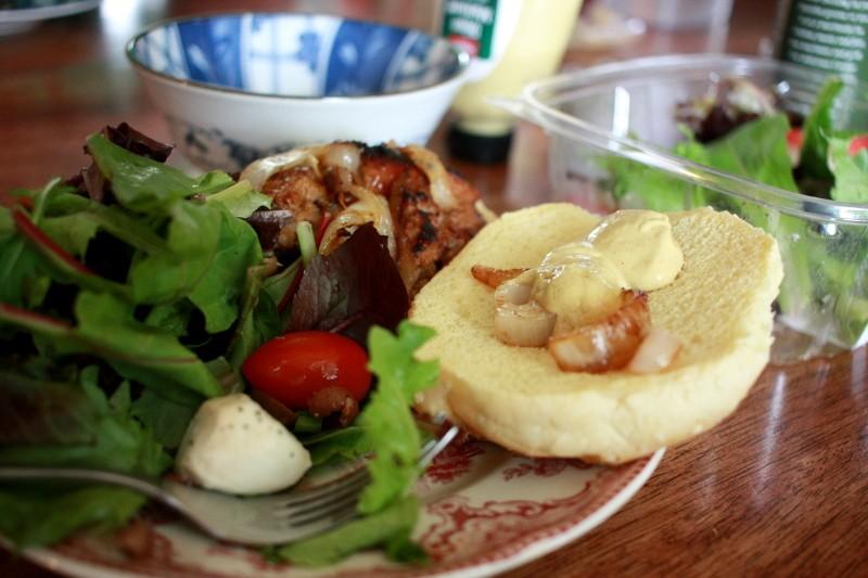 salad & bratwurst