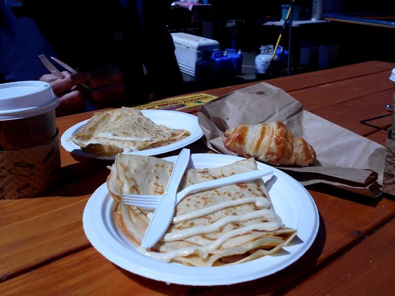 swiss & ham crepes