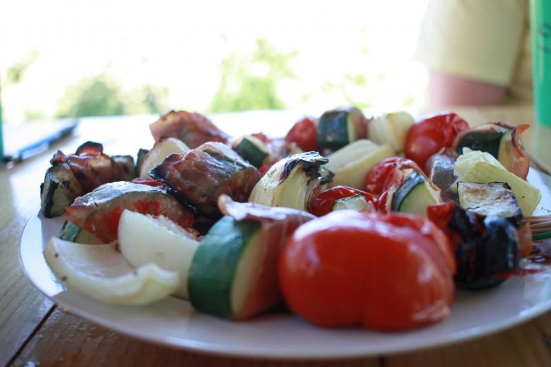 zucchini, tomato, onion