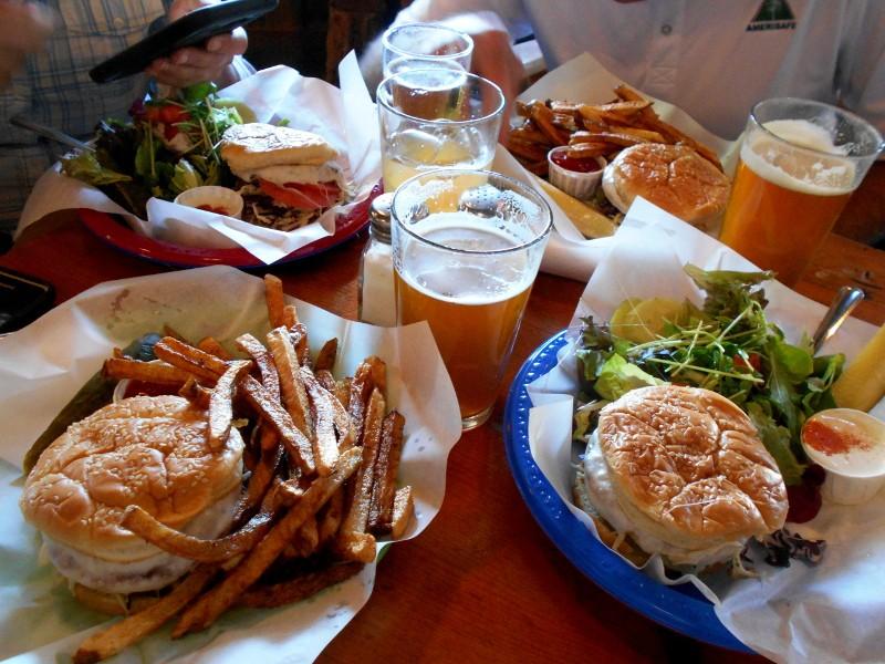 beer & salmon burgers
