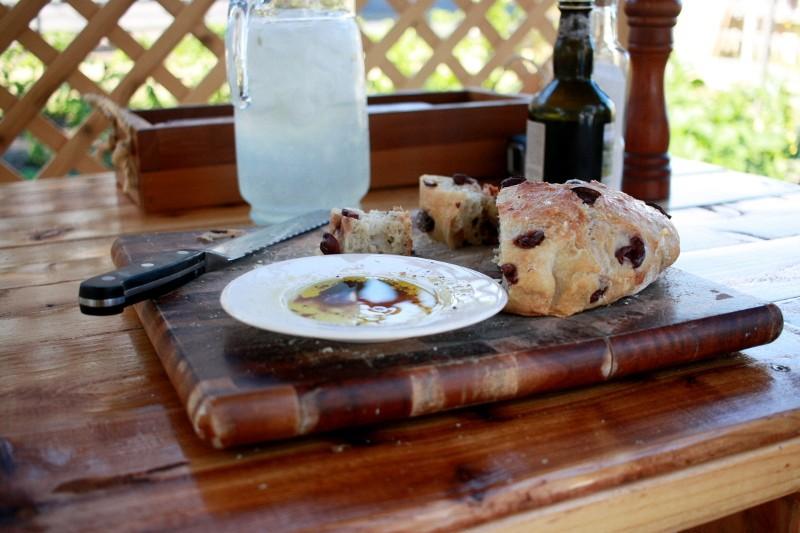 olive bread & gin & tonics