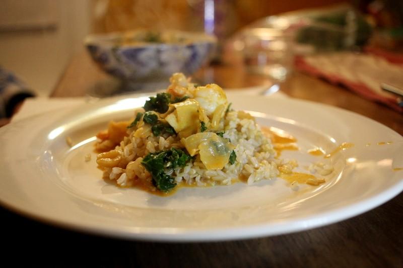 shrimp curry & veggies