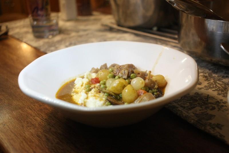cauliflower & chicken stew