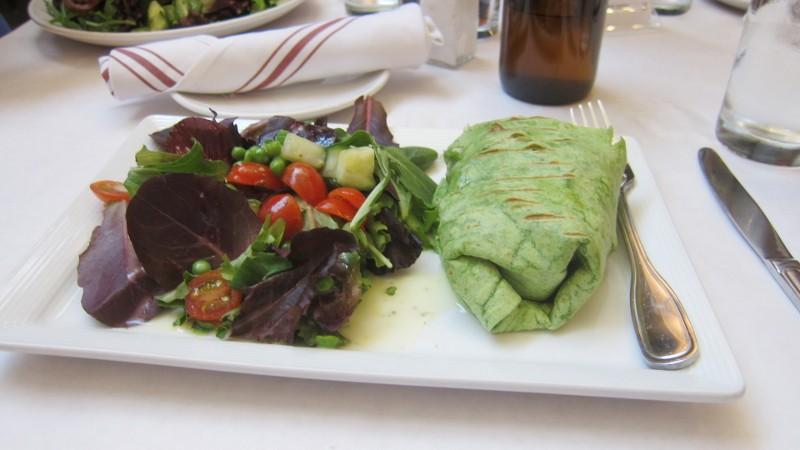 chicken wrap & salad