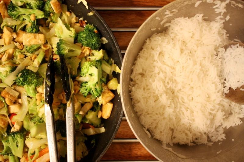 rice & tofu stir fry