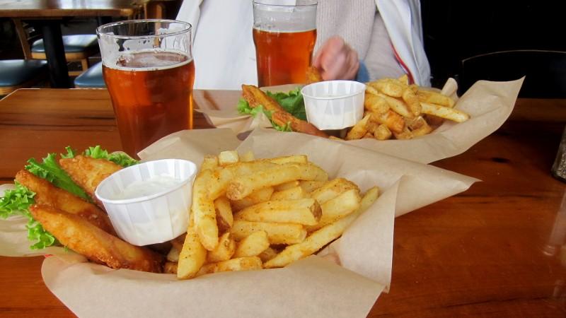 IPA, fish & chips