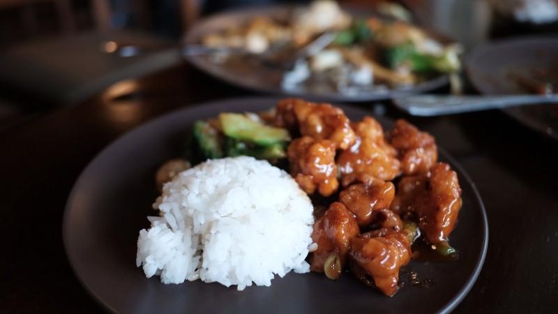 rice, broccoli & chicken