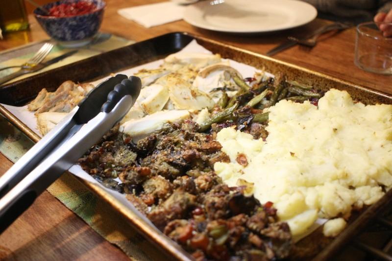 turkey, potatoes, stuffing