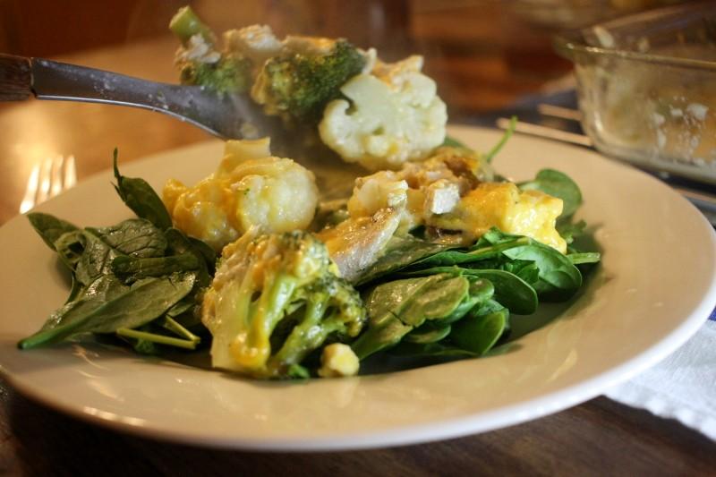cauliflower & broccoli casserole