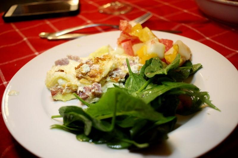 salad & quiche