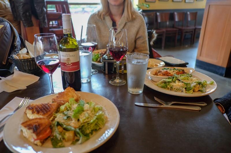 salads, panini & lasagna