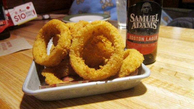 onion rings & sam adams