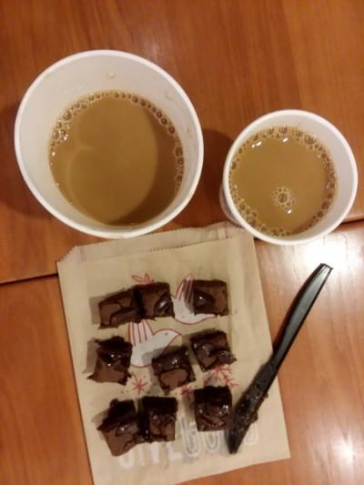 coffee & brownie