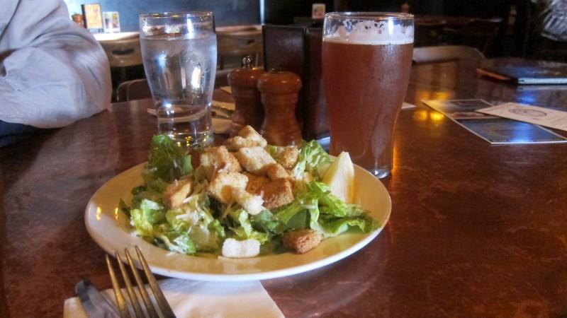 salad & beer