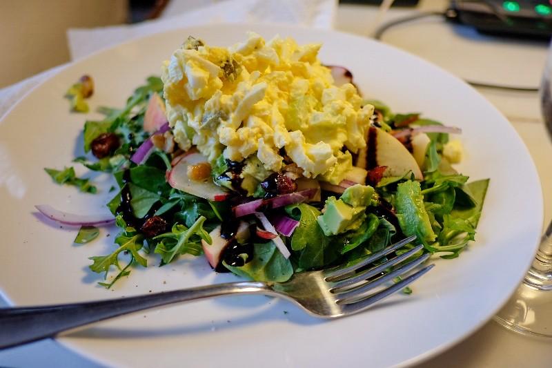 egg salad on greens