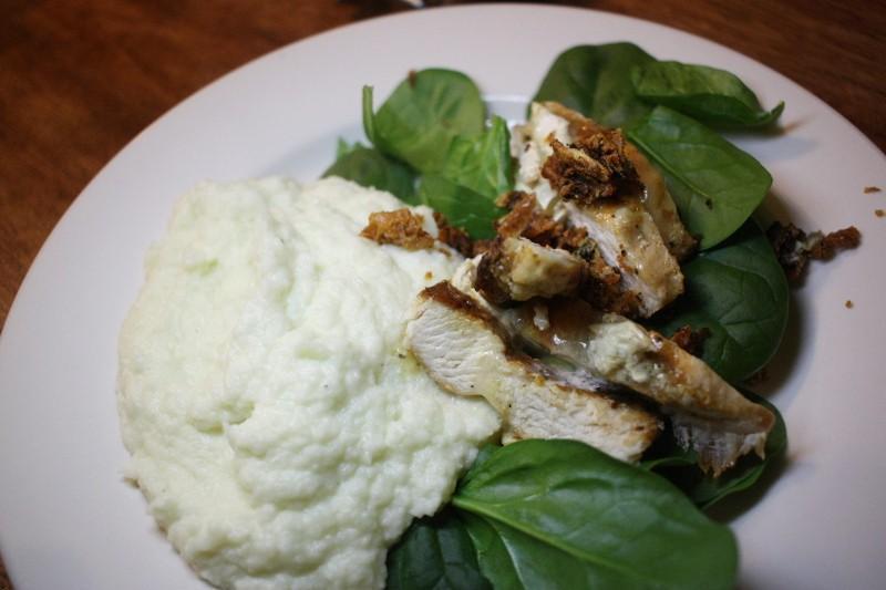 chicken, greens & cauliflower
