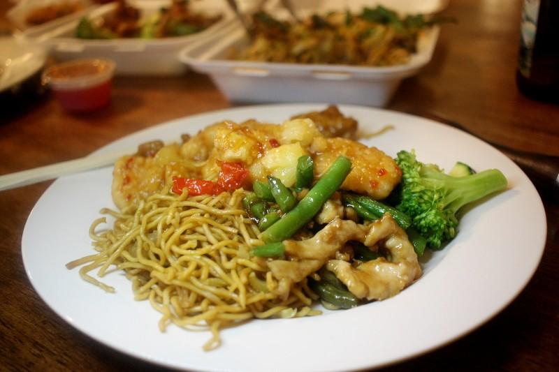 chicken, noodles & vegetables