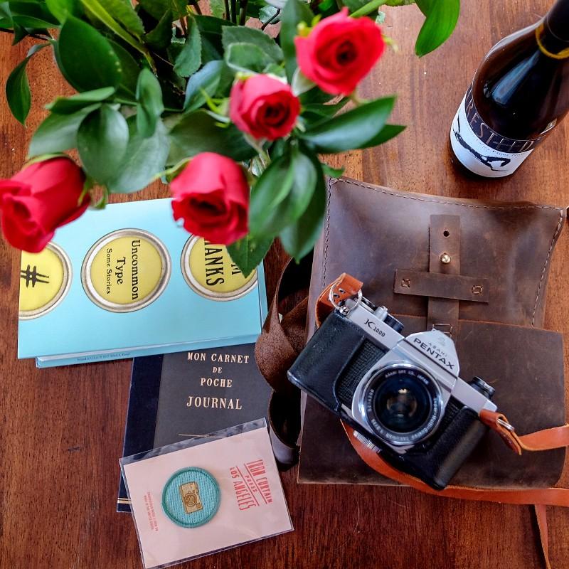 Valentine's flowers & books