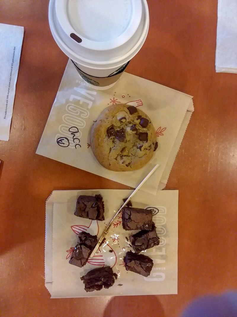 coffee & brownie & cookie