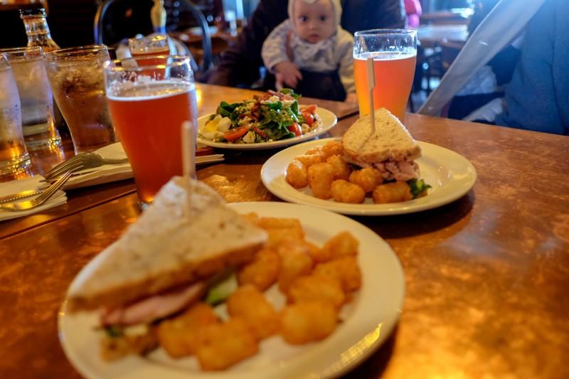 tuna sandwich, salad & IPA