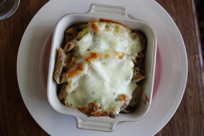 pasta, chicken & cheese