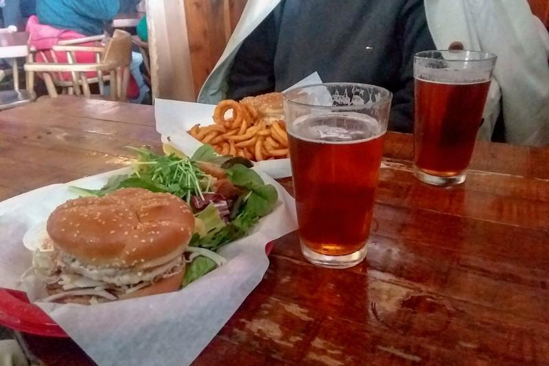 salmon burgers - IPA