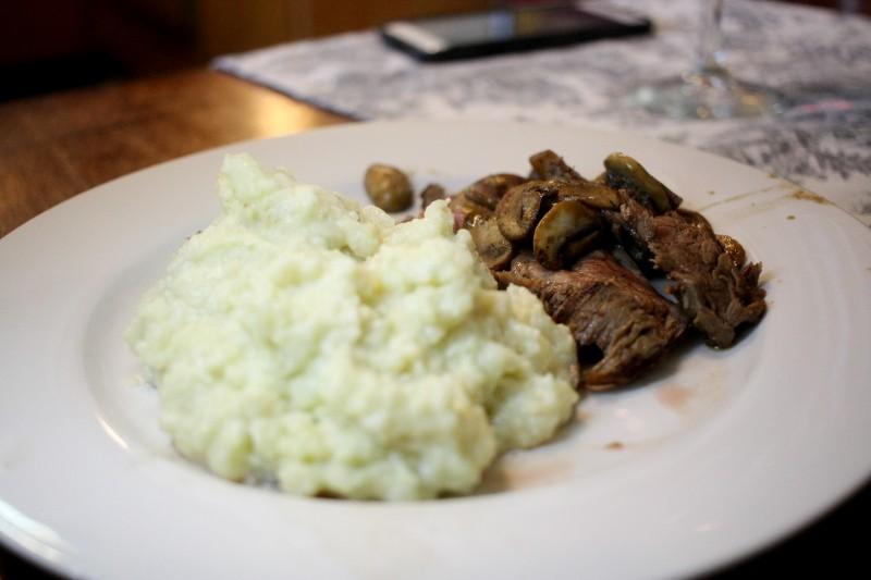 skirt steak & cauliflower