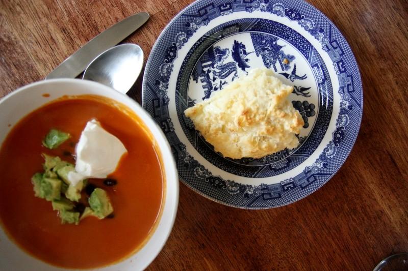 scone & soup