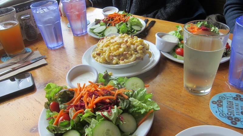salads, mac & cheese