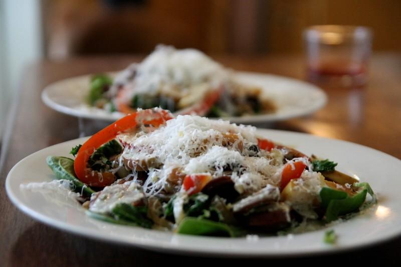 kale & sausage salad