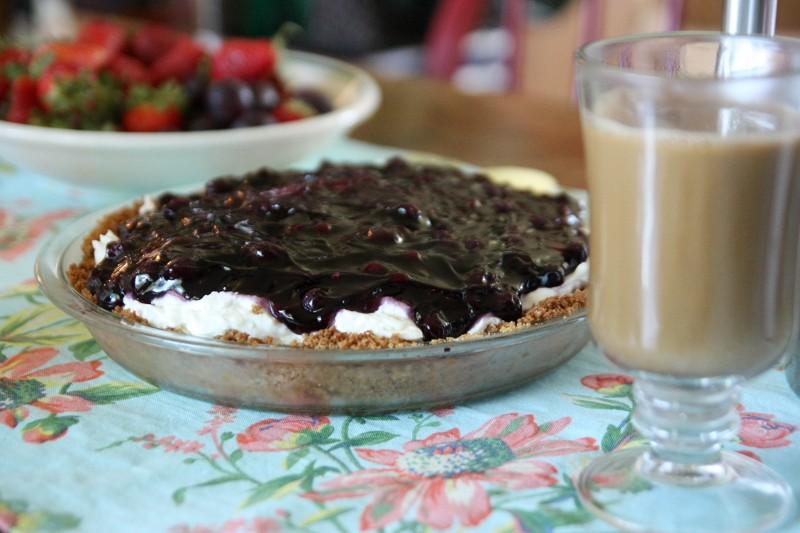fruit & blueberry cheesecake