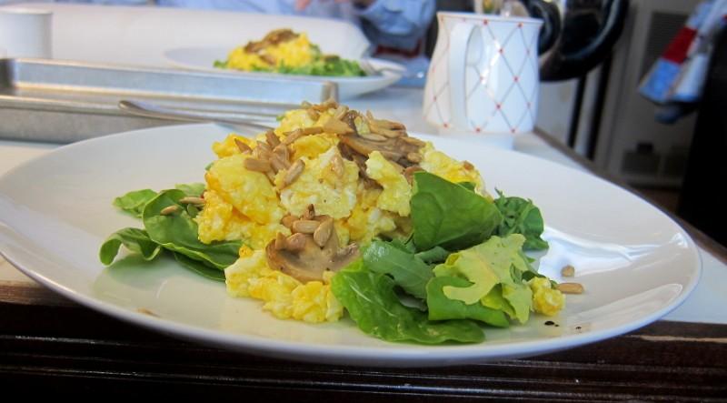 eggs, mushrooms & greens