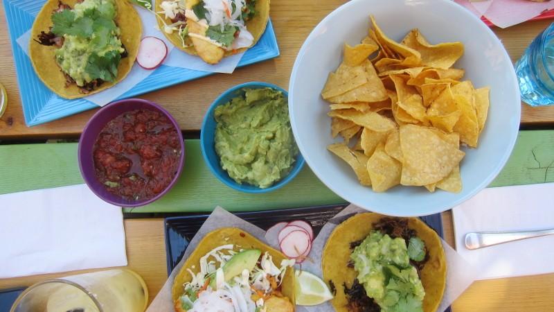 chips, salsa & tacos