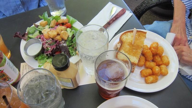 tuna, tater tots & salad