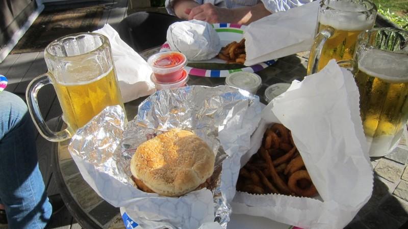 salmon burgers & fries