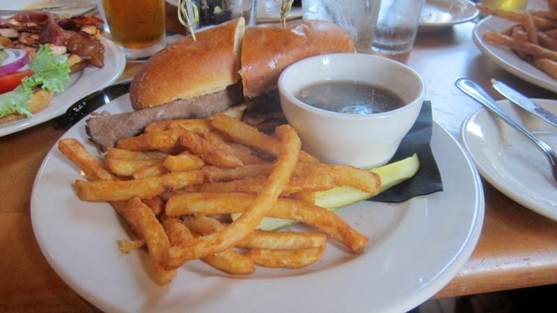 roast beef sandwich, fries