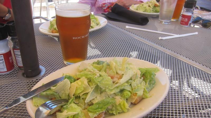 caesar salad & beer