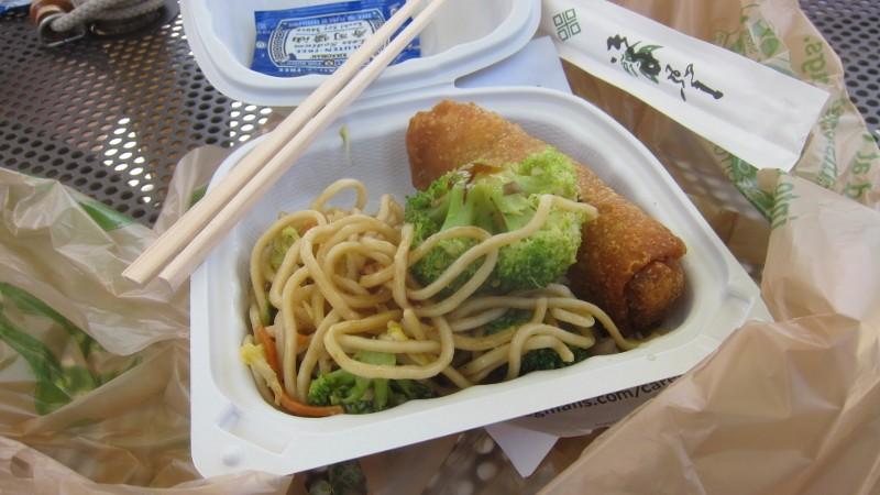 noodles & veggie & shrimp roll