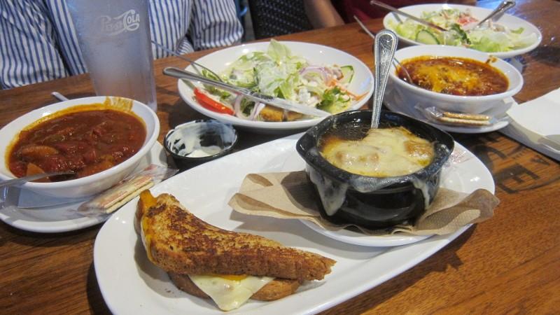 soup, salad & sandwich